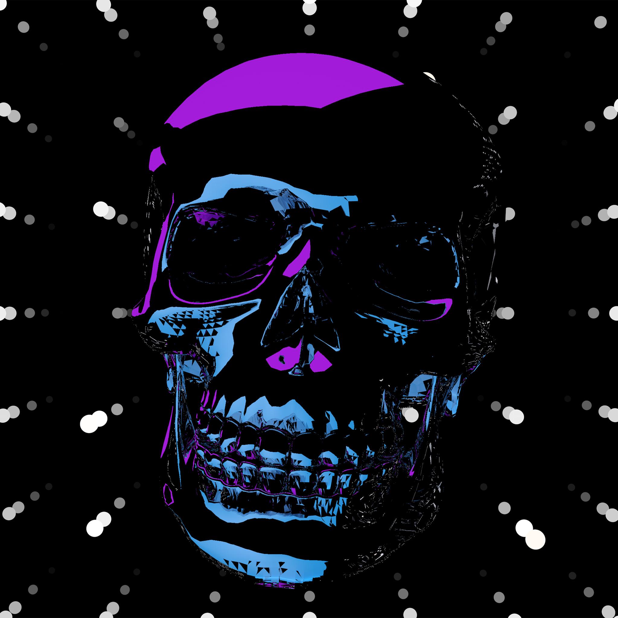 skull_nod_front_4k